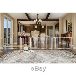 16 Ft Wide Baby Gate Child Play Yard Dog Pet Metal Playpen Indoor Outdoor Fence