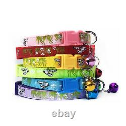 200PCS Lot Dog Collars Pet Cat Puppy Buckle Nylon Collar Neck With Bell Wholesale