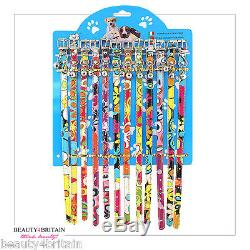 24 x PET DOG CAT COLLARS ADJUSTABLE WITH BELLS DIFFERENT STYLES WHOLESALE UK