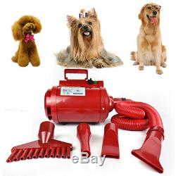 2500W Stepless Adjustable Speed Pet Hair Force Dryer Dog Grooming Blower 110V US