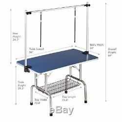 250LB Professional Adjustable Heavy Duty Dog Pet Grooming Table WithArm Mesh Tray