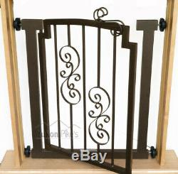 28-34 Noblesse Indoor Dog & Pet Adjustable Metal Safety Gate Mocha
