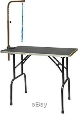 30 Dog Cat Grooming Table For Vet Home Pet Owner Portable Folds Adjustable Arm