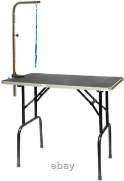 30 Inch Grooming Table For Dog Adjustable Arm Pet Owner Vet Portable Easy Fold