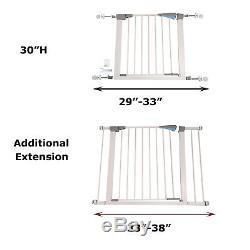 30 Tall Safety Gate Baby Toddler Indoor Security Walk Through Dog Pet fence
