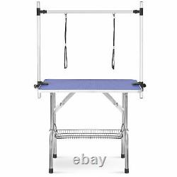 36 Foldable Pet Dog Cat Grooming Table Heavy Duty Stainless Steel Adjustable