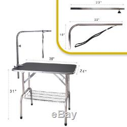 36'' Heavy Duty Portable Pet Dog Cat Profession Dog Show Fold Grooming Table