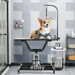 36 Hydraulic Dog Cat Pet Grooming Table Tray Folding Adjustable Arm Noose Mesh