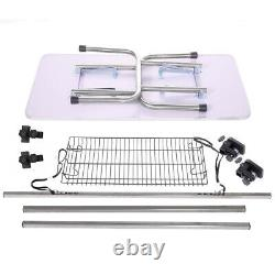 36 Large Pet Grooming Table Folding Dog Cat Table withArm/Noose/Mesh Tray, Black