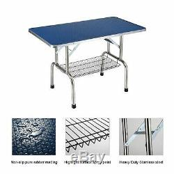 36'' Large Professional Adjustable Dog Pet Grooming Table WithArm Noose Mesh Tray