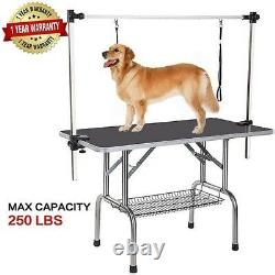 36 Portable Pet Dog Grooming Table Foldable with Large Adjustable Arm/Noose Black