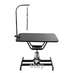 36in Heavy Duty Z-lift Hydraulic Pet Dog Grooming Table With Adjustable Arm Noose