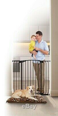 38-42 XTall Auto-Close Adjustable Black Indoor Dog, Pet & Baby Safety Gate