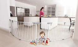 3 in 1 Baby Safety Gate Folding Pet Dog Metal Indoor Fireguard Fence Barrier NEW