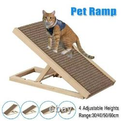 40'' Dog Ramp for Couch Sofa Bed Pet Cat Stairs 4 Adjustable Heights Folds Flat