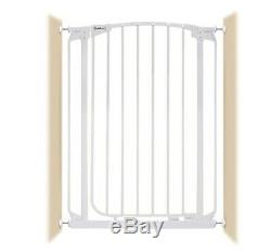 42-46 XTall Auto-Close Adjustable White Indoor Dog, Pet & Baby Safety Gate
