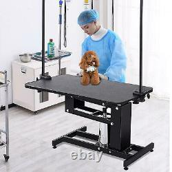 42.5'' X 23.5' Z-Lift Hydraulic Grooming Table WithArm&Noose Pet Dog Adjustable
