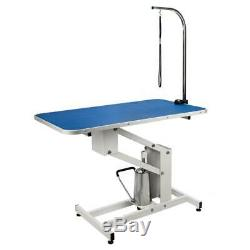 42.5 X 23.6 Pet Dog Adjustable Arm Heavy Type Hydraulic Grooming Table Blue