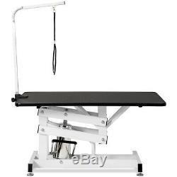 42.5 Z-Lift Portable Hydraulic Pet Dog Cat Grooming Clean Table Adjustable Arm