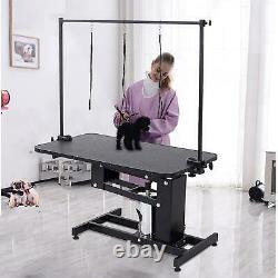 42.5'' x 23.5'' Z-lift Hydraulic Dog Pet Grooming Table withNoose Adjustable Arm