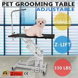 42.5'' x 23.6'' Z-lift Hydraulic Dog Cat Pet Grooming Table Pet Care Rubber Mat