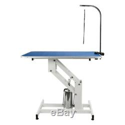 42.5'' x 23.6'' Z-lift Hydraulic Dog Pet Grooming Table with Noose Adjustable Arm