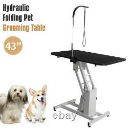 42.5in Folding Hydraulic Pet Dog Adjustable Heavy Type Hydraulic Grooming Table
