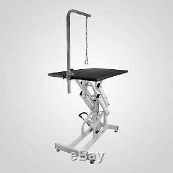 42.5x23.6'' Z-Lift Hydraulic Pet Dog Grooming Table Adjustable WithArm& Noose