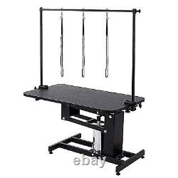 43.3''X24'' Z-Lift Pet Grooming Table Hydraulic Dog Pet Table Adjustable Heavy