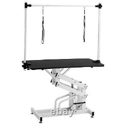 43 Dog Cat Pet Grooming Table Hydraulic Folding Adjustable Arm Noose Mesh Tray