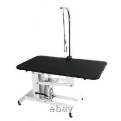 43 Hydraulic Dog Cat Pet Grooming Table Tray Folding Adjustable Arm Noose Mesh