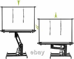 43 Hydraulic Pet Dog Grooming Table Large Adjustable Height Z-Lift withArm Noose