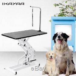 43 Hydraulic Z-Lift Grooming Table Pet Dog Groom Height Adjustable with Arm Noose