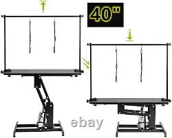 43 Pet Dog Grooming Table Heavy Duty Z-Lift Hydraulic withAdjustable Arm Noose US