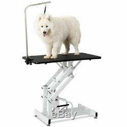 45.3 x 23.6 Pet Dog Adjustable Heavy Type Hydraulic Grooming And Durable Black