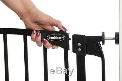 45-49 XTall Auto-Close Adjustable Black Indoor Dog, Pet & Baby Safety Gate