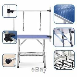 46Pet Grooming Table Pet Dogs Adjustable Height Portable Trimming Table Blue
