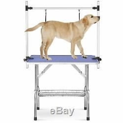46Pet Grooming Table for Large Dogs Adjustable Height Portable Trimming Table