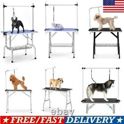 46''/36''/32''/30'' Foldable Pet Dog Grooming Cat Table WithAdjustable Arm/Noose