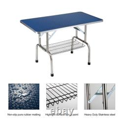 46 Dog Cat Pet Grooming Table Portable Folding Adjustable Noose Arm Mesh Tray