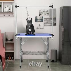 46 Grooming Folding Table For Pet Dog And Cat With Adjustable Arm Pet Supplies