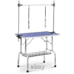 46 Large Grooming Table for Pet Dog Cat WithAdjustable Arm Clamp Heavy Duty Metal