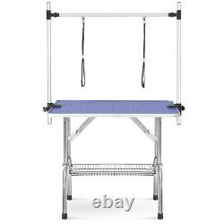 46 Pet Dog Cat Grooming Table Adjustable Arm Noose Heavy Duty Foldable Portable