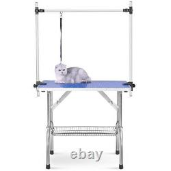 46 Pet Grooming Table Heavy Duty Table Adjustable Arm &Clamps for Dog and Cat