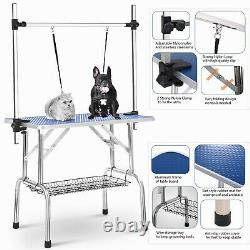 46 Pet Grooming Table Heavy Duty Table Adjustable Arm &Clamps for Dogs and Cats