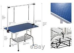 46 inch Heavy Duty Pet Dog Grooming Table with Adjustable Overhead Arm Noose