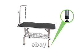 48'' AdjustablePortable Pet Dog Cat Grooming Table Dog Show WithArm &Noose &