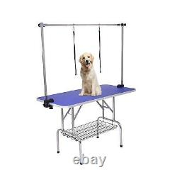48 Dog Cat Pet Grooming Table Portable Folding Adjustable Noose Arm Mesh Tray
