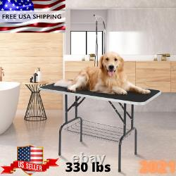 48 Foldable Pet Grooming Table Dog Cat Portable Folding Adjustable Arm Mesh NEW