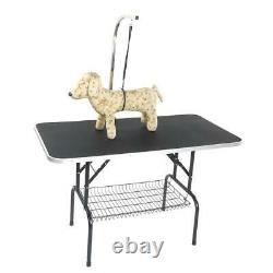 48 Large Pet Grooming Table W Tray, Adjustable Arm Noose Foldable, Cat Dog
